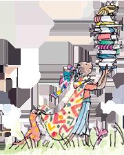 quentin_blake_girl_bookpile